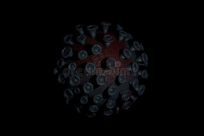 Dunkles Koronavirus im Blutkonzept stockfotografie