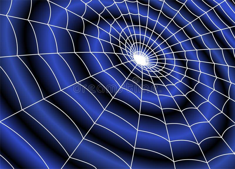 Dunkles Loch mit Spinnennetz lizenzfreie abbildung