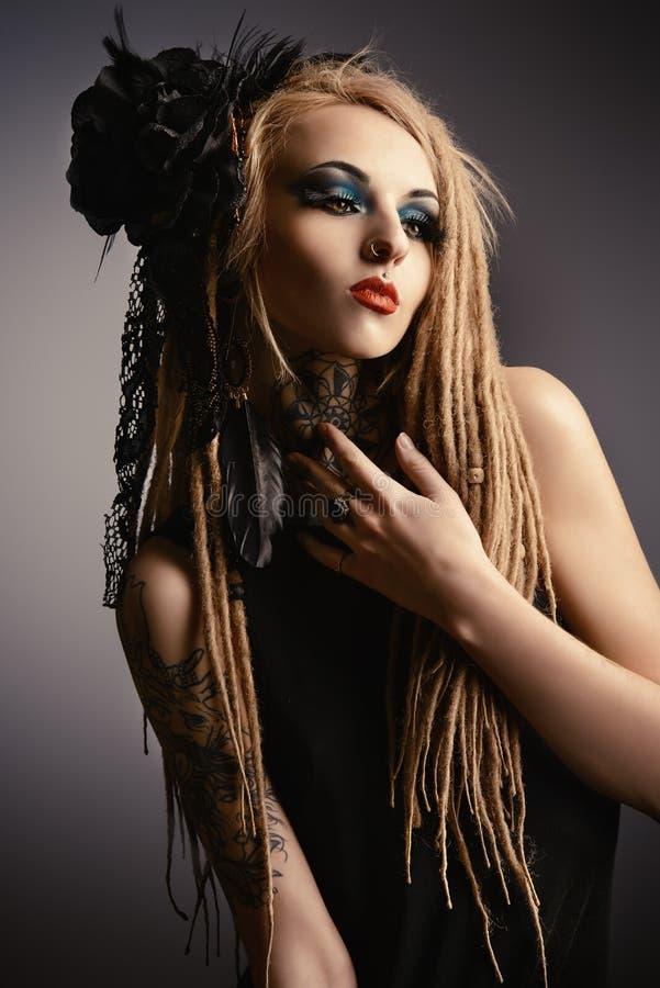 Dunkles Make-up stockfotografie