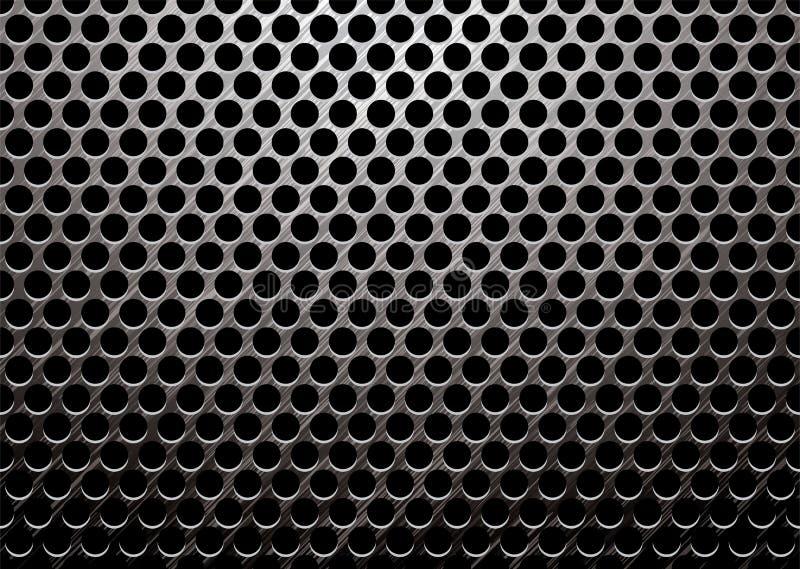Dunkles Metall aufgetragen lizenzfreie abbildung