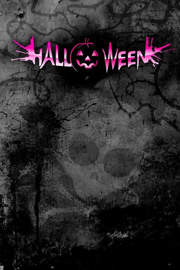 Dunkles Plakat für Halloween vektor abbildung