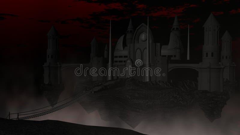 Dunkles Schloss stock abbildung