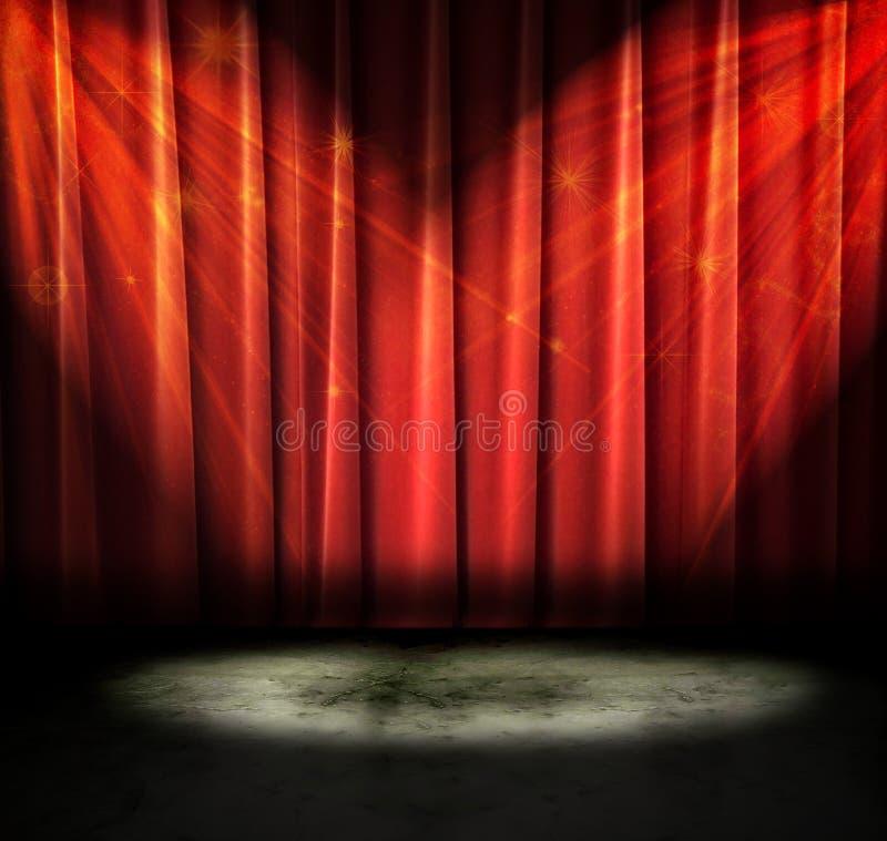 Dunkles Theater lizenzfreies stockbild