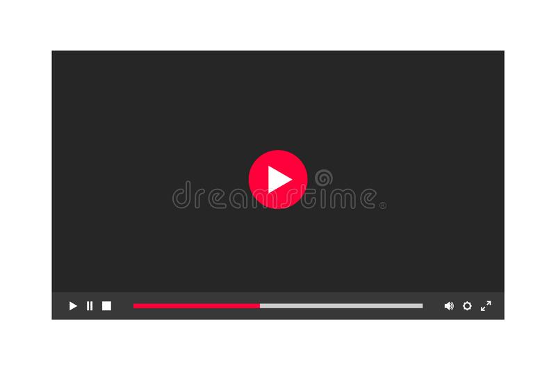 Dunkles Thema des Video-Player-Fensters stock abbildung