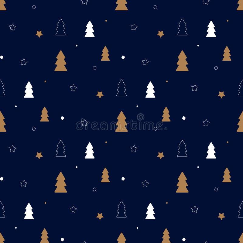 Dunkles Weihnachtsmuster stock abbildung
