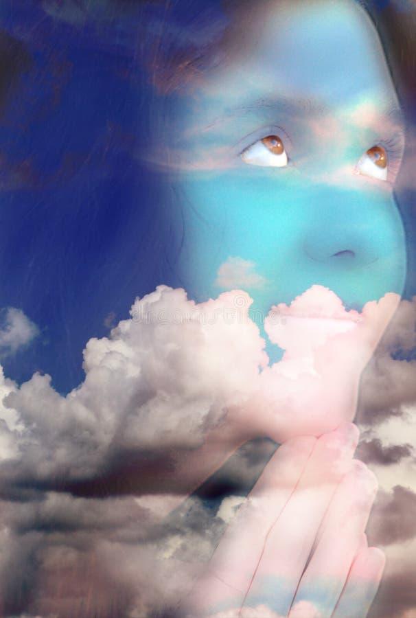 Dunkles Wolkengesicht stockfoto