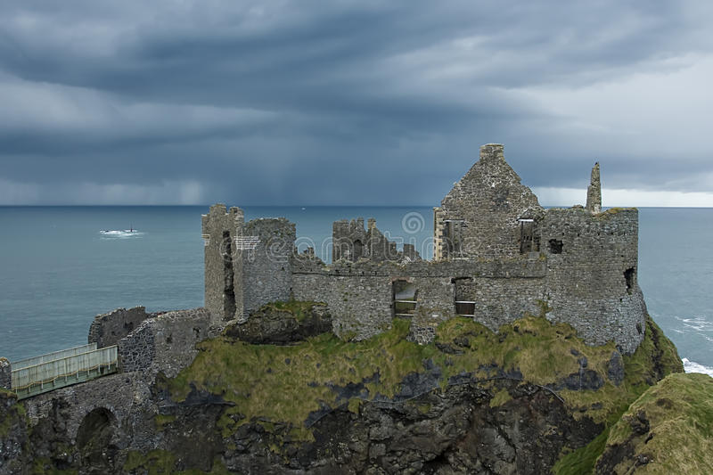 Download Dunluce castle stock image. Image of atlantic, dramatic - 12599213