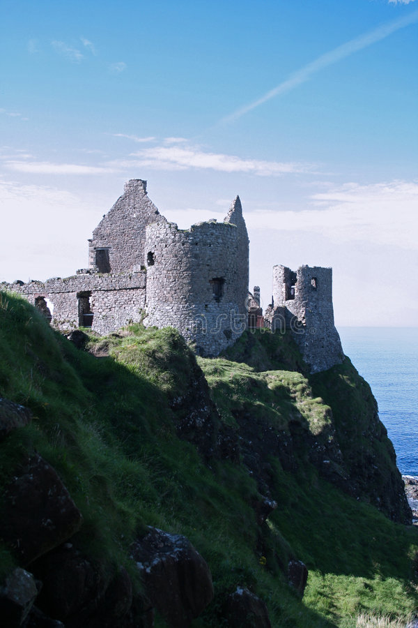 Download Dunluce Castle Ruins stock image. Image of rock, fortress - 7026385
