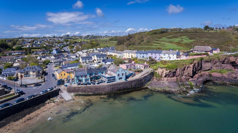 Dunmore East. county Waterford. Ireland. Aerial view. Dunmore East. county Waterford. Ireland royalty free stock images