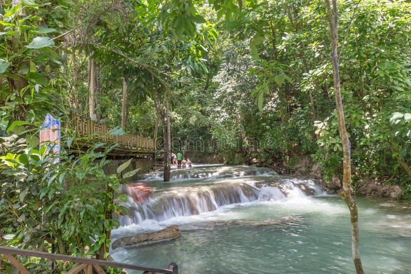 Dunn-Flussfälle Jamaika Antillen lizenzfreie stockfotografie