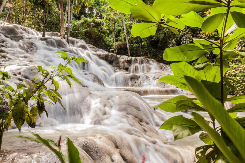 Dunn`s River Falls in Jamaica stock images
