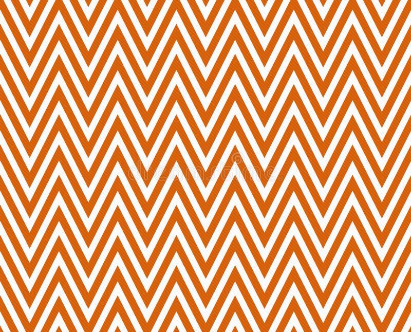 Dunne Heldere Oranje en Witte Horizontale Chevron Gestreepte Geweven royalty-vrije illustratie