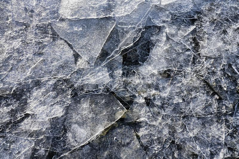 Dunne ijsscherven stock foto's