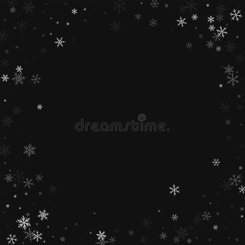 Dunne sneeuwval stock illustratie