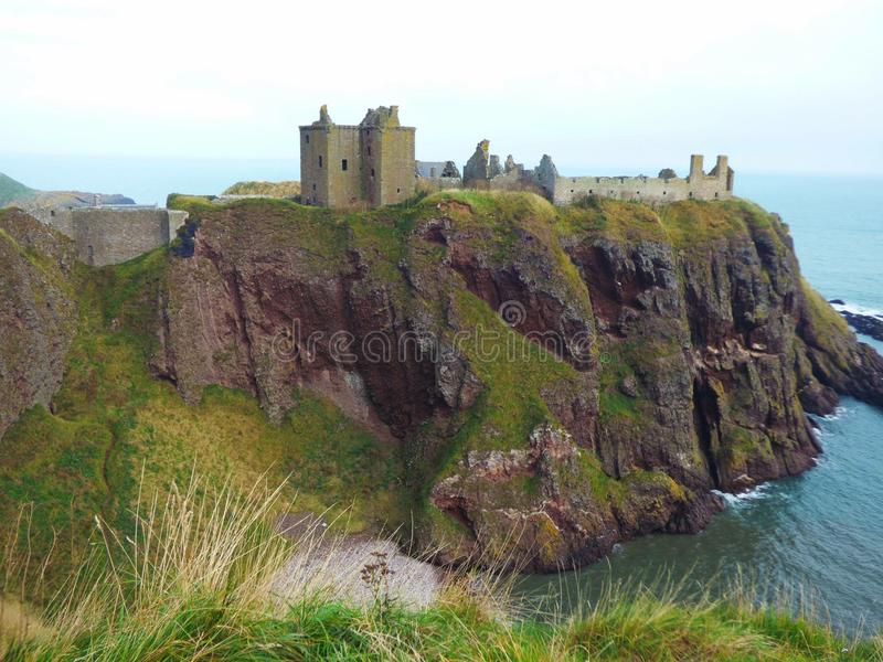 Dunnotar castle in scotland stock images