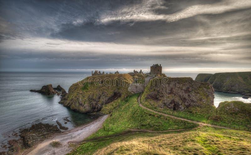 Dunnottar Castle in Schotland Near to Aberdeen - Verenigd Koninkrijk royalty-vrije stock fotografie