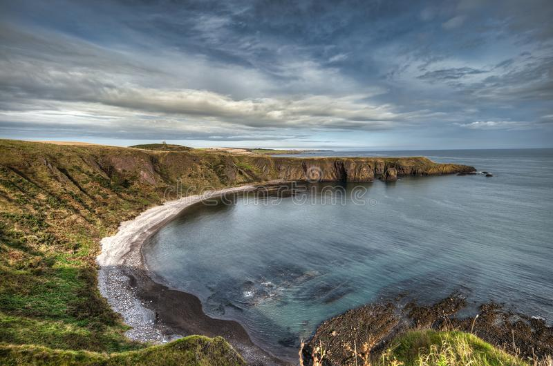 Dunnottar Castle in Scotland. Near to Aberdeen - United Kingdom royalty free stock images