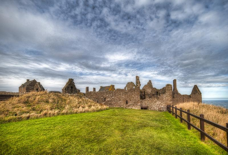 Dunnottar Castle in Scotland. Near to Aberdeen - United Kingdom.  royalty free stock photo