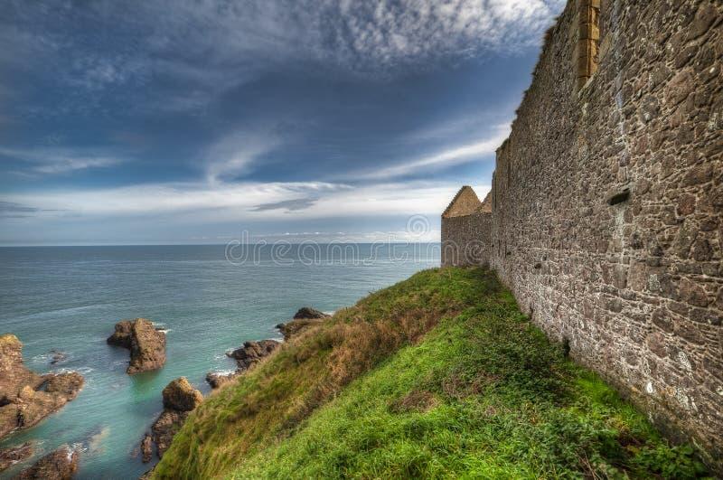 Dunnottar Castle in Scotland. Near to Aberdeen - United Kingdom.  stock photo