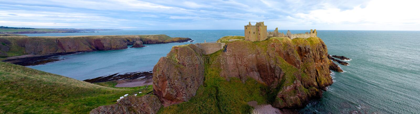 Dunnottar Castle Scotland Panorama Extra Wide stock image
