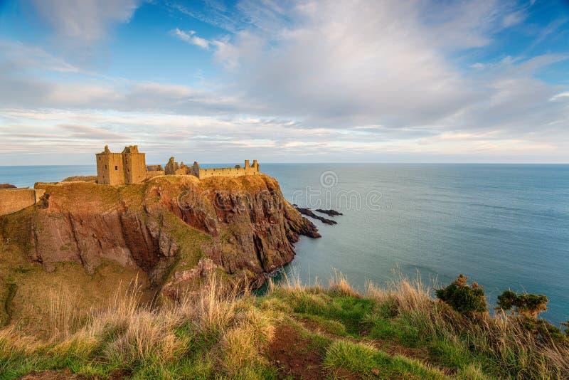 Dunnottar Schloss in Schottland stockbilder