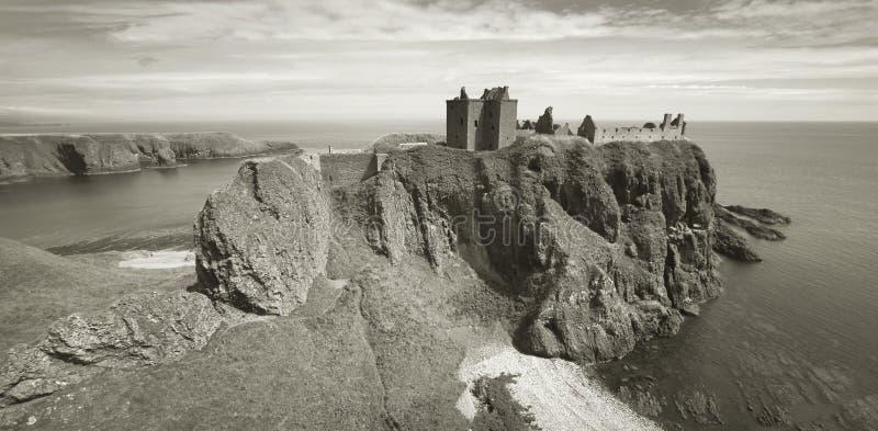 Dunnottar-Schlossruinen in der schottischen Küstenlinie Stonehave Scotlan lizenzfreies stockfoto