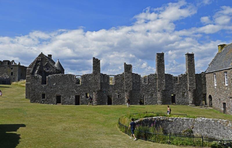 Dunnottarkasteel een middeleeuwse vesting in Schotland royalty-vrije stock foto