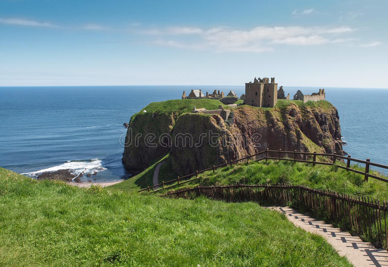 Dunnottarkasteel, Schotland royalty-vrije stock fotografie