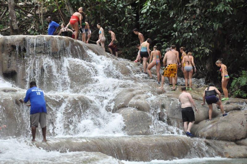 Dunns flodnedgångar i Ocho Rio de Janeiro, Jamaica royaltyfria bilder