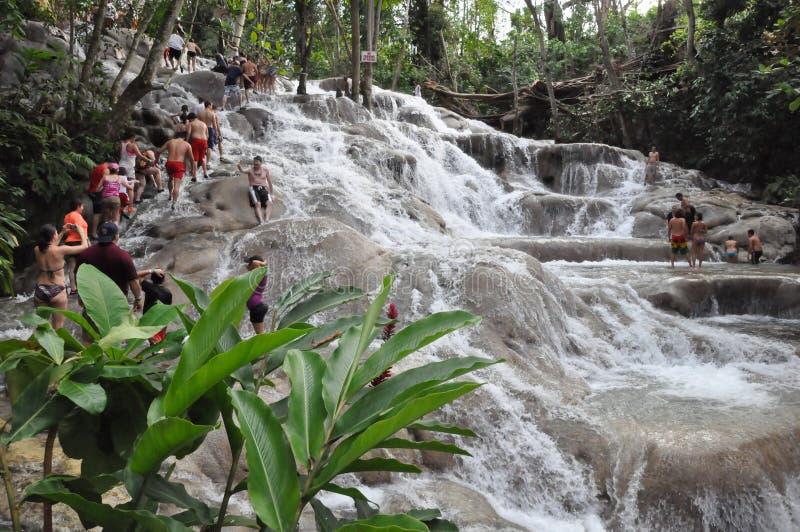 Dunns flodnedgångar i Ocho Rio de Janeiro, Jamaica arkivfoto