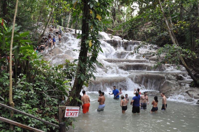 Dunns rzeka Spada w Ocho Rios, Jamajka zdjęcie royalty free
