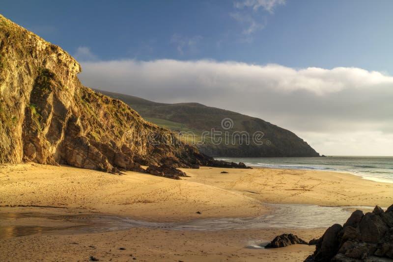 Dunquin bay beach stock image