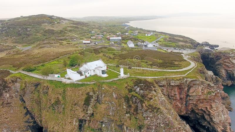 Dunree g?owy latarnia morska Co Donegal Irlandia zdjęcie stock