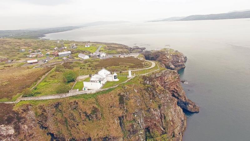 Dunree g?owy latarnia morska Co Donegal Irlandia fotografia stock