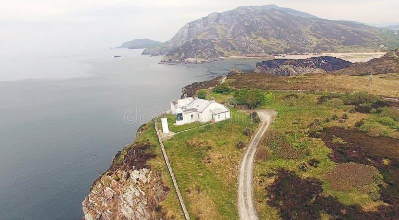 Dunree huvudfyr Co Donegal Irland royaltyfri bild