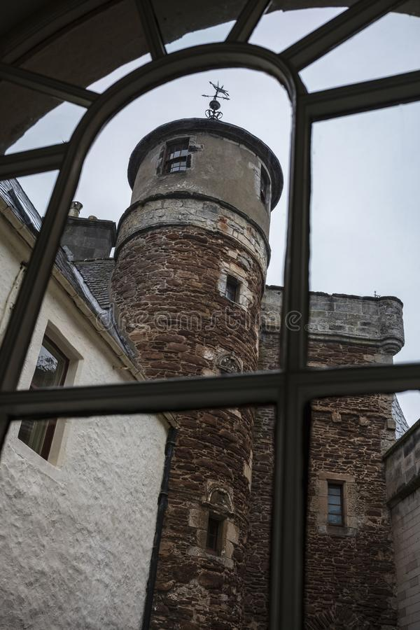 The watch tower of Dunrobin Castle stock image