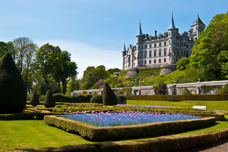 Dunrobin slott royaltyfri foto