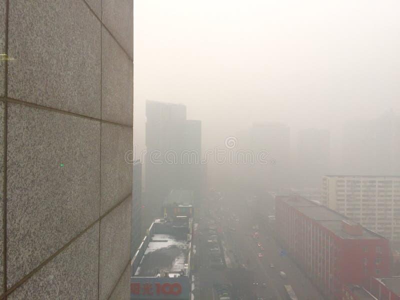 Dunst über Peking-Stadt stockfotografie