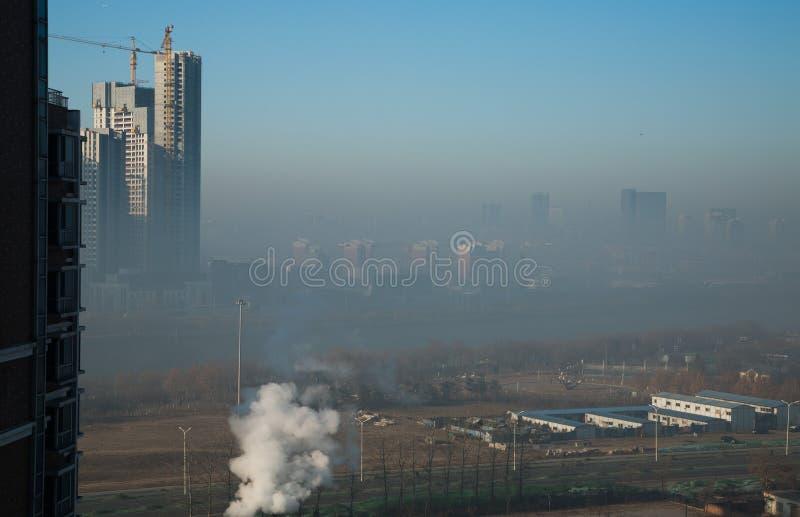 Dunst schwerer um Peking stockfoto