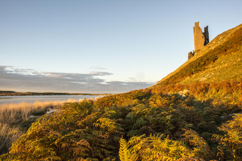 Download Dunstanburgh castle ruins stock image. Image of colors - 28058699