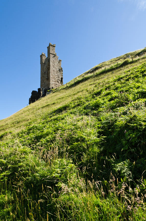 Download Dunstanburgh Tower stock photo. Image of house, middle - 26514048