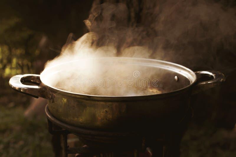 Dunster från koka vatten arkivbild