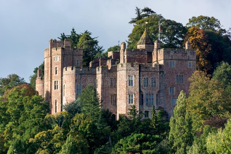 DUNSTER, SOMERSET/UK - 20 DE OUTUBRO: Vista do castelo de Dunster dentro assim imagem de stock