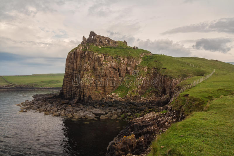 Duntulm Castle in the north of Skye royalty free stock images