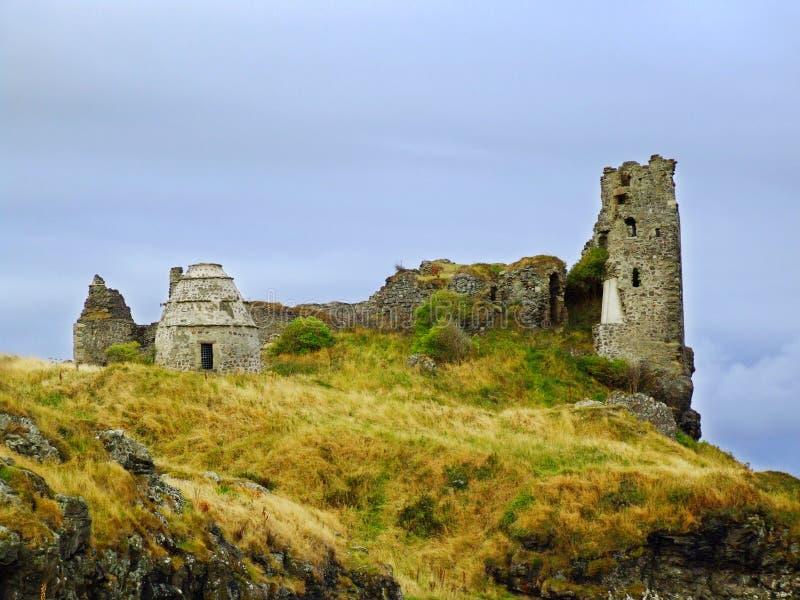 Dunure城堡,埃尔郡废墟  图库摄影