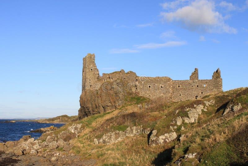 Dunure城堡, Dunure,埃尔郡,苏格兰。 免版税图库摄影