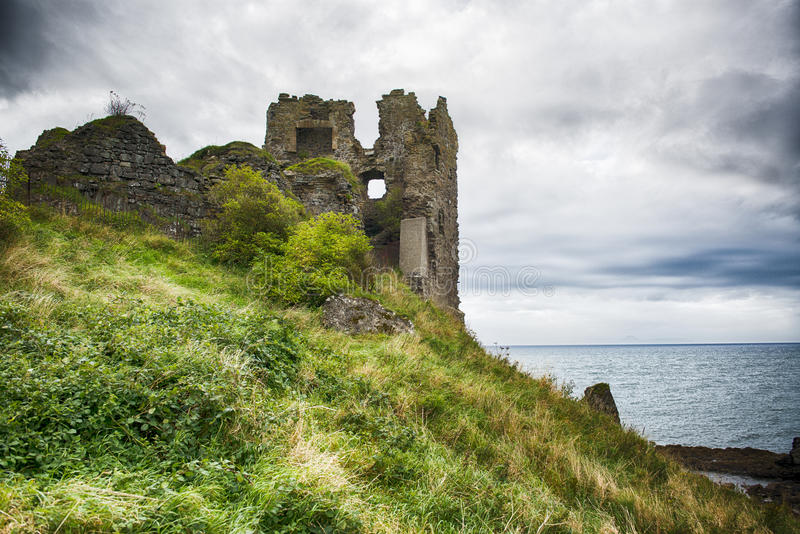 Dunure castle stock photos