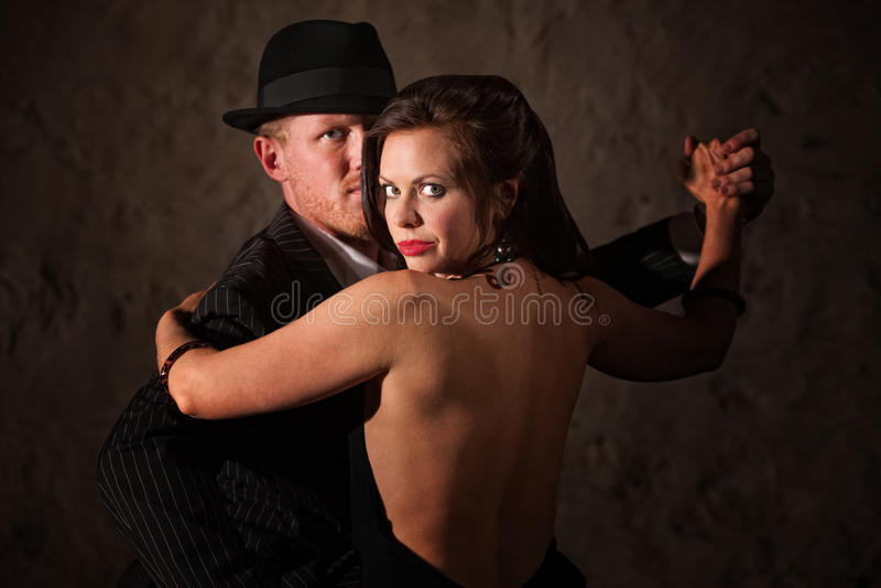 Duo appassionato di tango fotografia stock