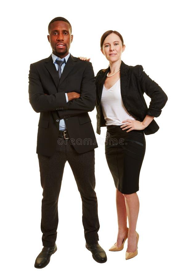 Duo d'affaires avec deux hommes d'affaires photographie stock