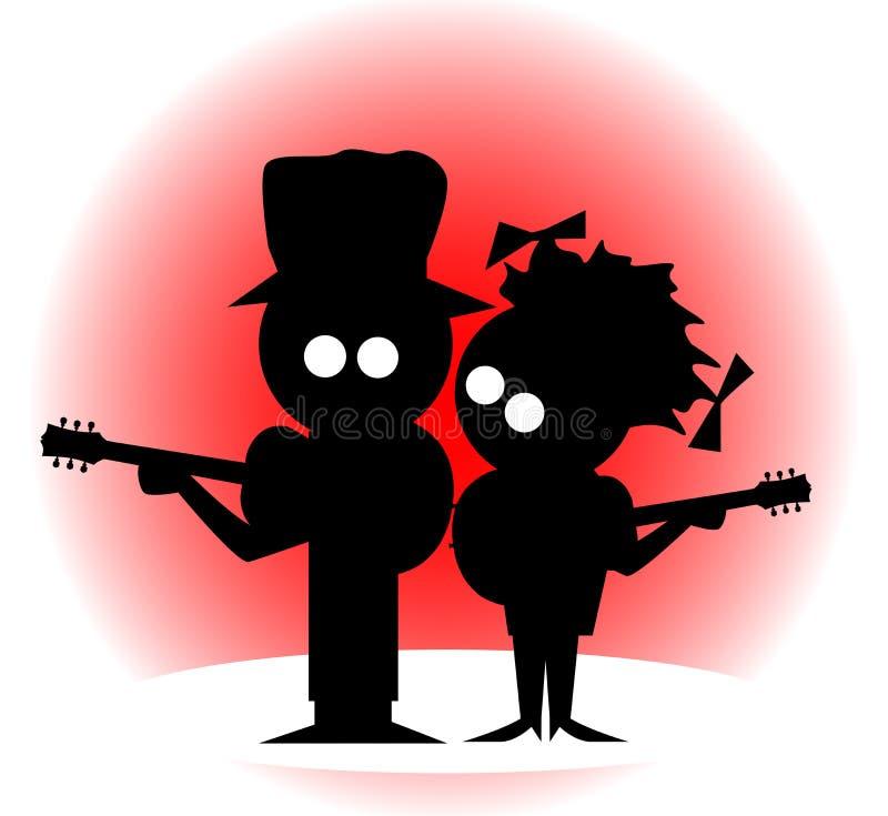 Duo da guitarra ilustração do vetor